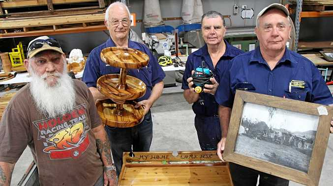 HANDMADE WITH LOVE: Lockyer Valley Community Activities Shed members were keen to see their creations go to a good home.