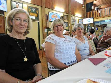 Supporting Look Good Feel Better's annual fundraiser (from left) Eva Stevanovic, Gwen Shields and Cathy Voigt.