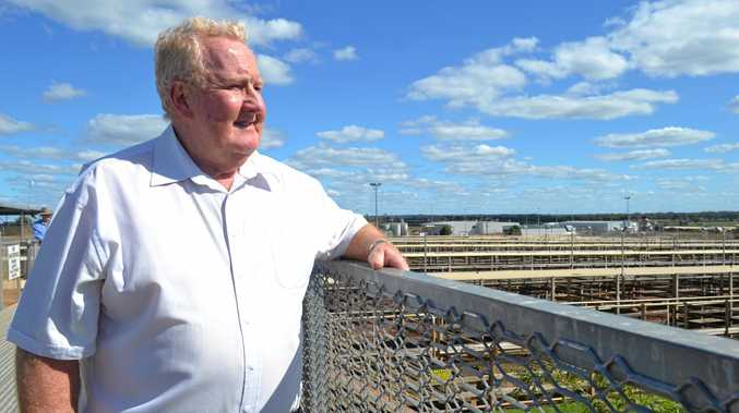 NUMBER ONE: Councillor Peter Flynn is delighted that the Roma saleyards have come out on top once again.