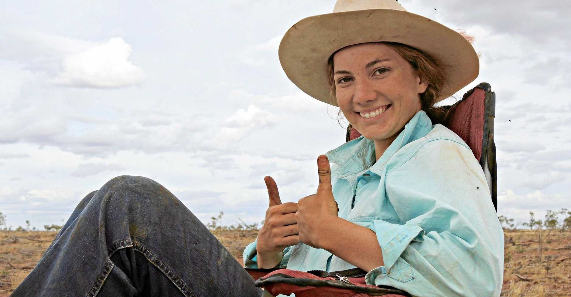 COUNTRY: Zara spent her gap year working on her family's property, Barbara Plains.