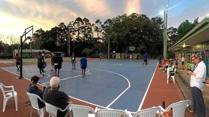 3-on-3 basketball at Key Employment's Youth Hub on West High St.