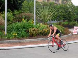 Maria Rosewood on the bike leg of the Coffs Harbour Tri Club's first race of the season.