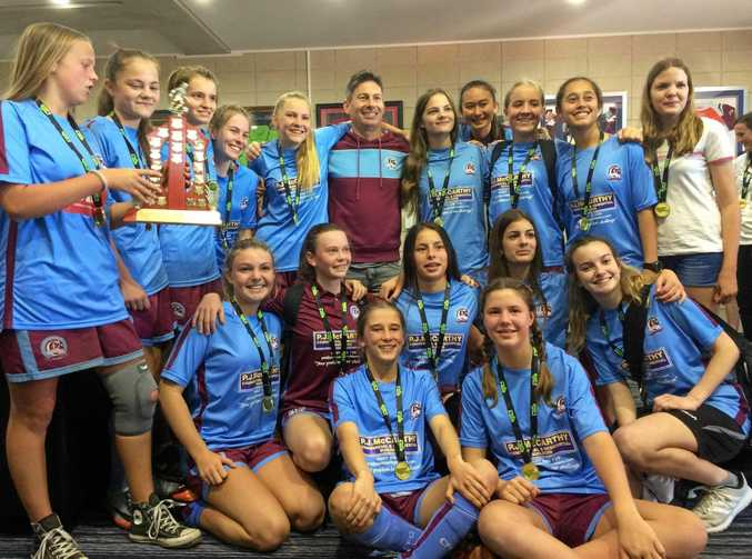 WINNERS: The Coolum under-16 girls team caused an upset in the grand final.