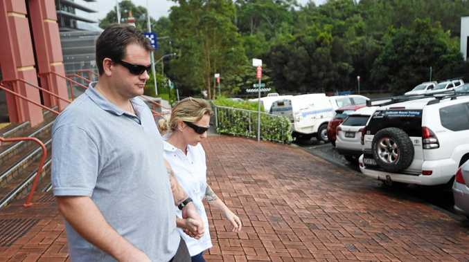 Steve and Michelle Underhill outside Lismore Court today.