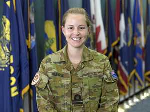 UP FOR CHALLENGE: Royal Australian Navy Lieutenant Nicole Francis at Combined Maritime Forces, Navy Headquarters in Manama, Bahrain.