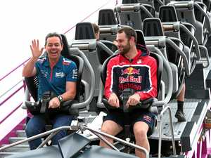 ROLLER COASTER RIDE: Supercar drivers Craig Lowndes and Shane Van Gisbergen prepare for the Gold Coast 600 this weekend.