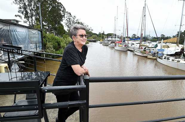 KEEPING WATCH: 71 Wharf Restaurant in Maryborough owner Brenda Lewin has been keeping an eye on the rising waters of the Mary River.
