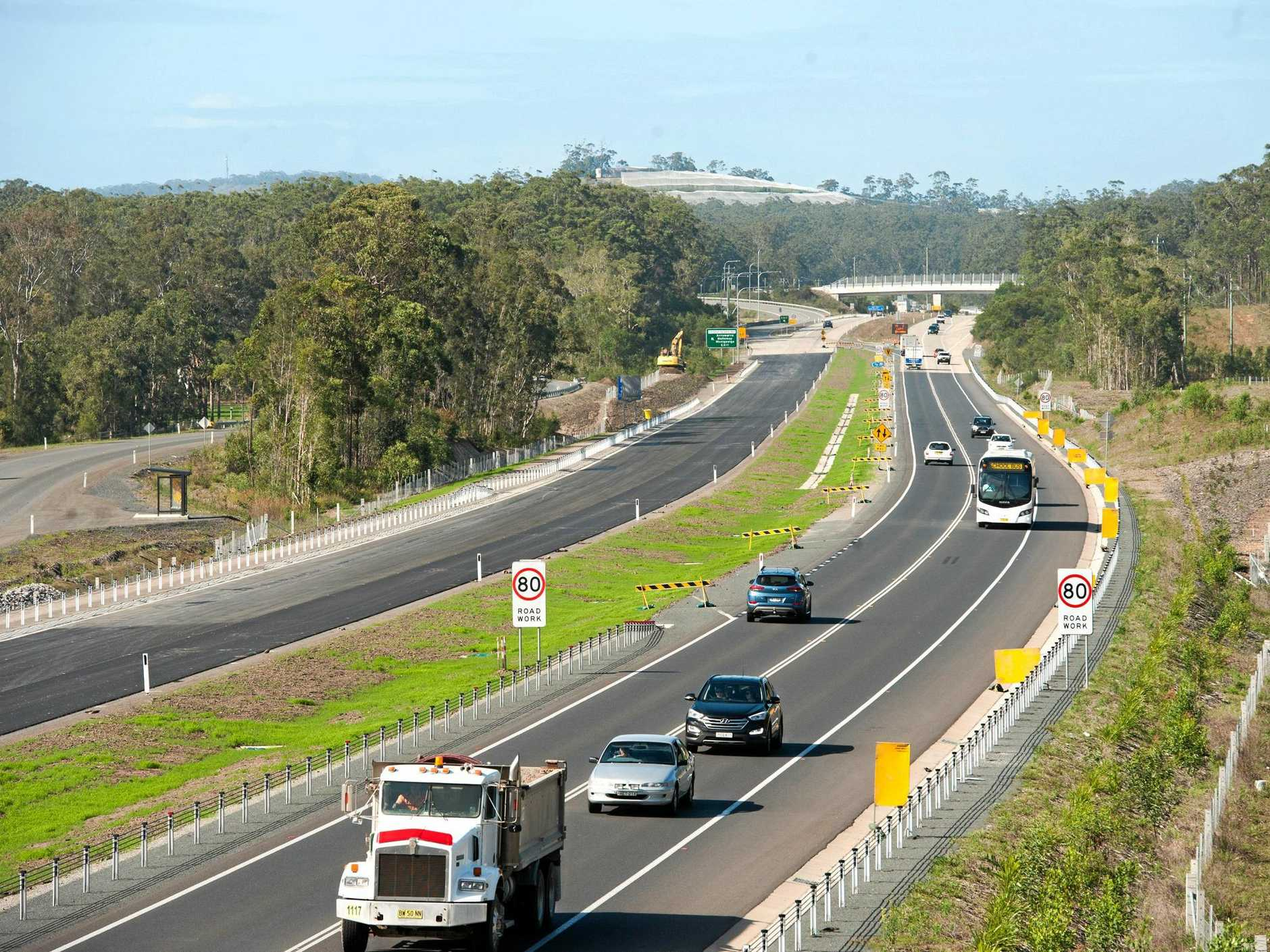 highway north of woolgoolga bypass set to open to traffic latter this month.. 17 OCT 2017