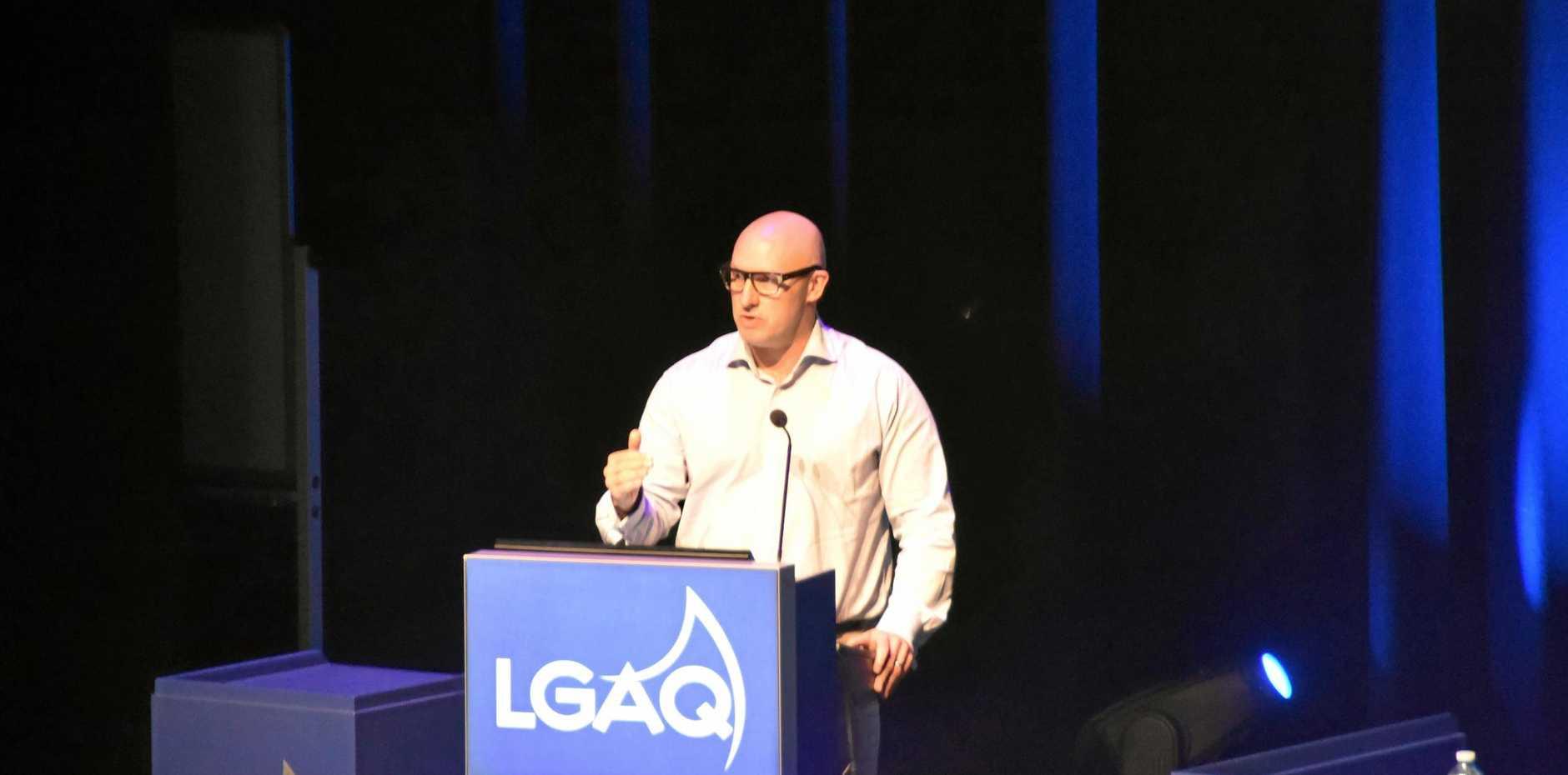 UK-based Accenture Global Cities segment lead Simon Giles spoke at the LGAQ conference.