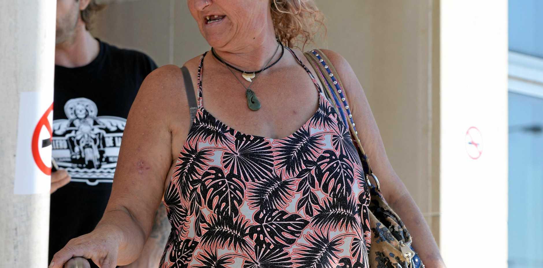 Kellie Ann Knight outside Bundaberg Courthouse.