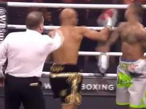 Boxer disqualified for cheap shot