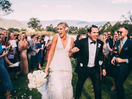 The wedding of Peter Stefanovic and Sylvia Jeffreys