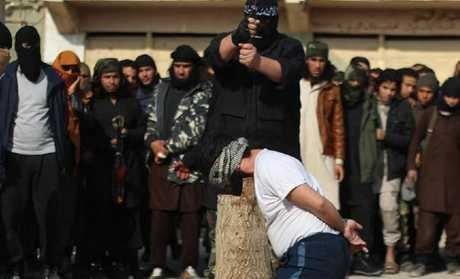 "At the man's execution, young ISIS recruits from ""cub"" camps watched on."