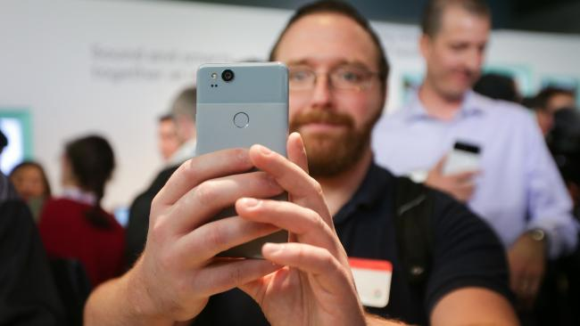 Google's newest smartphones, the Pixel 2 and Pixel 2 XL, will become available for pre-order in Australia on October 20. Picture: AFP PHOTO / Elijah Nouvelage