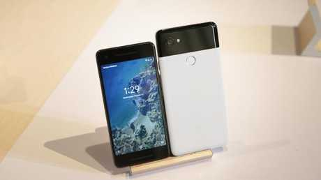 The Google Pixel 2 and Pixel 2 XL show how far Google has come in the hardware stakes since last year. Picture: AFP PHOTO / Elijah Nouvelage