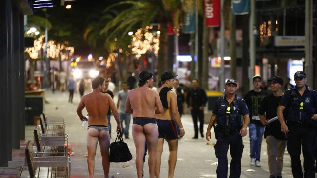 Schoolies in Surfers Paradise   For : The Courier