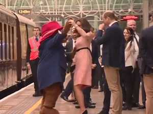 Duchess of Cambridge swept off her feet by famous bear
