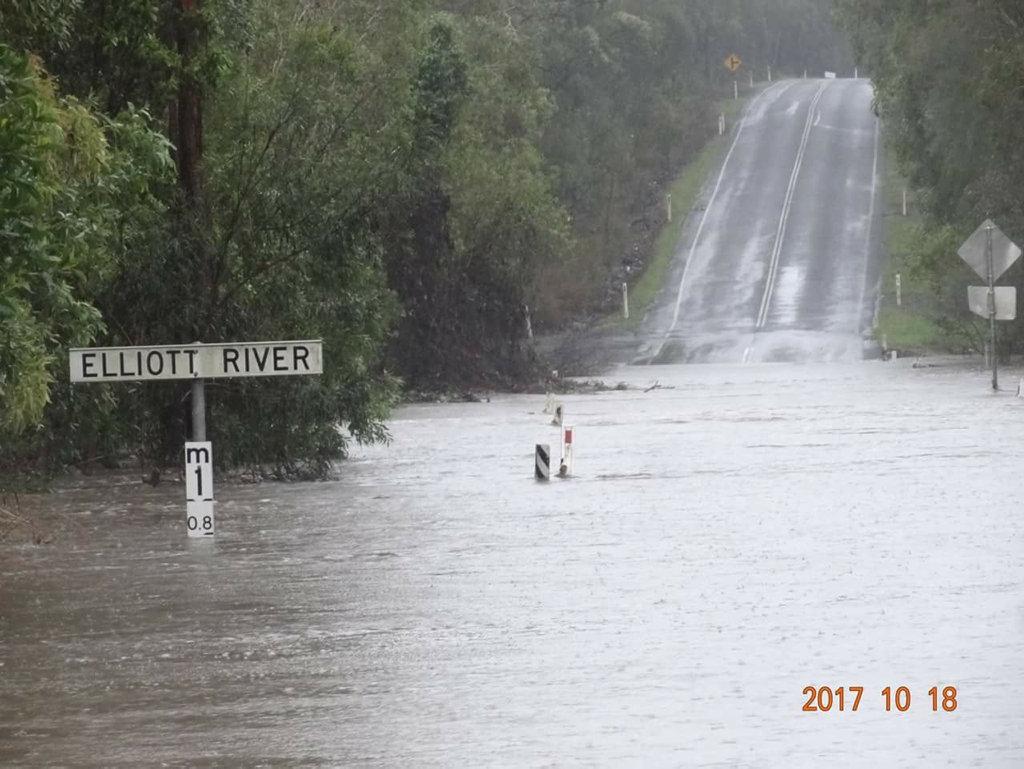 Elliot River, Goodwood Rd this morning