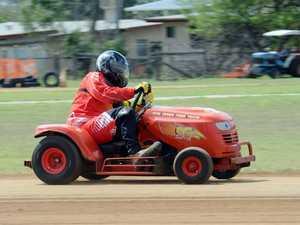 Mower racing at Yaamba - B Grade Randal Creed.