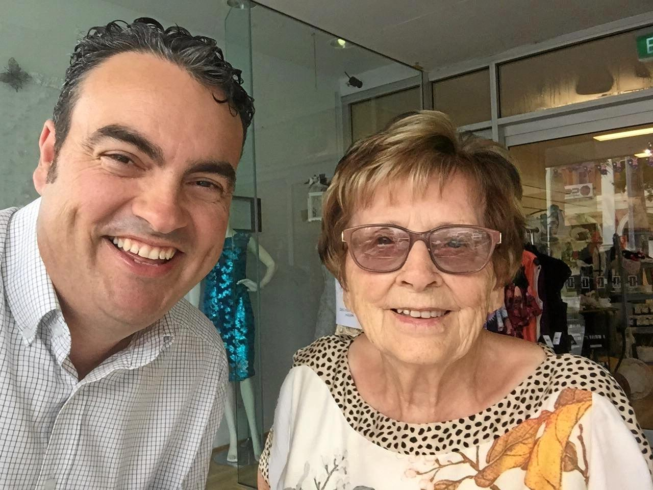 Mavis May with member for Whitsunday Jason Costigan.