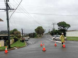 BREAKING: Power out after truck collides with powerlines