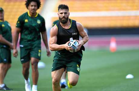 Josh Mansour during training in Brisbane