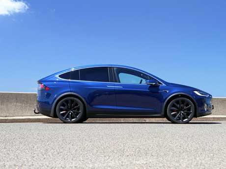 A 2017 model Tesla Model X.