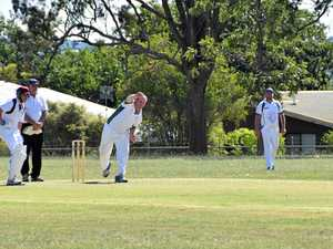 ALL ROUNDER: Jamien Smith, pictured bowling for Inglewood, was the best batsman for his team on Saturday.