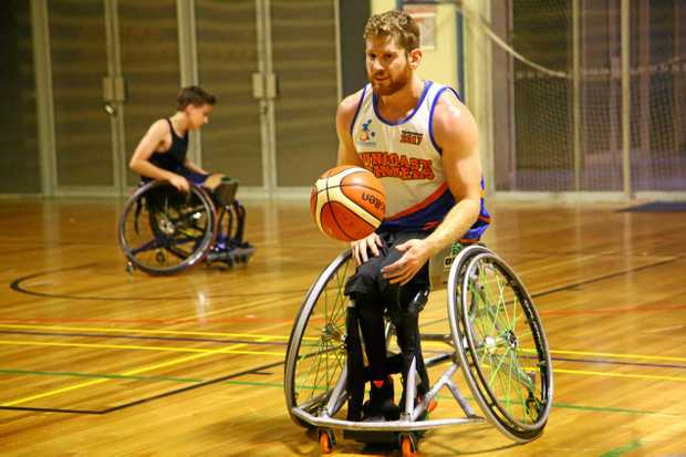 AUSTRALIAN REP: Steven Elliott will play for his country in wheelchair basketball and will be one of Gympie's 23 baton bearers.