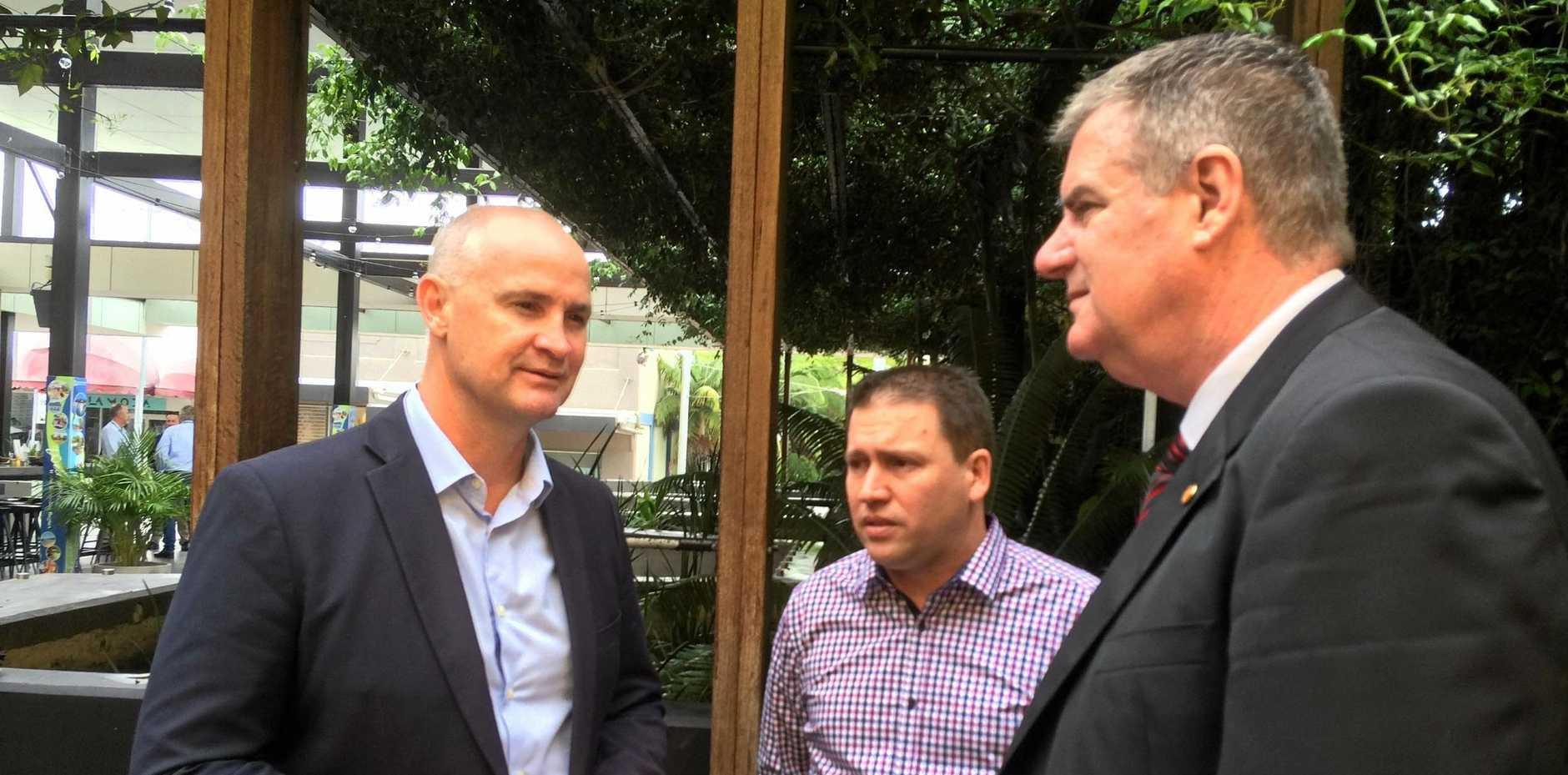Gladstone MP Glenn Butcher, Gladstone Region Mayor Matt Burnett and Local Government Minister Mark Furner were happy with the funding.