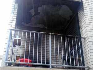 Fire guts unit balcony