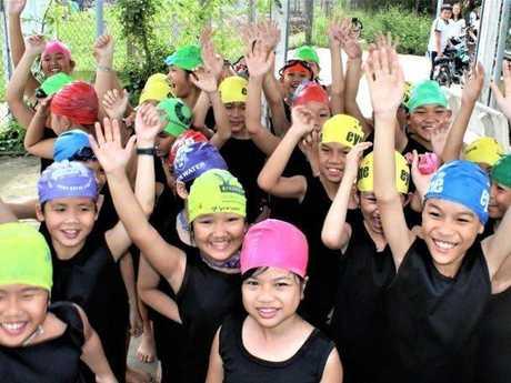 Swim Vietnam is teaching Vietnamese children to learn to basic swimming skills.