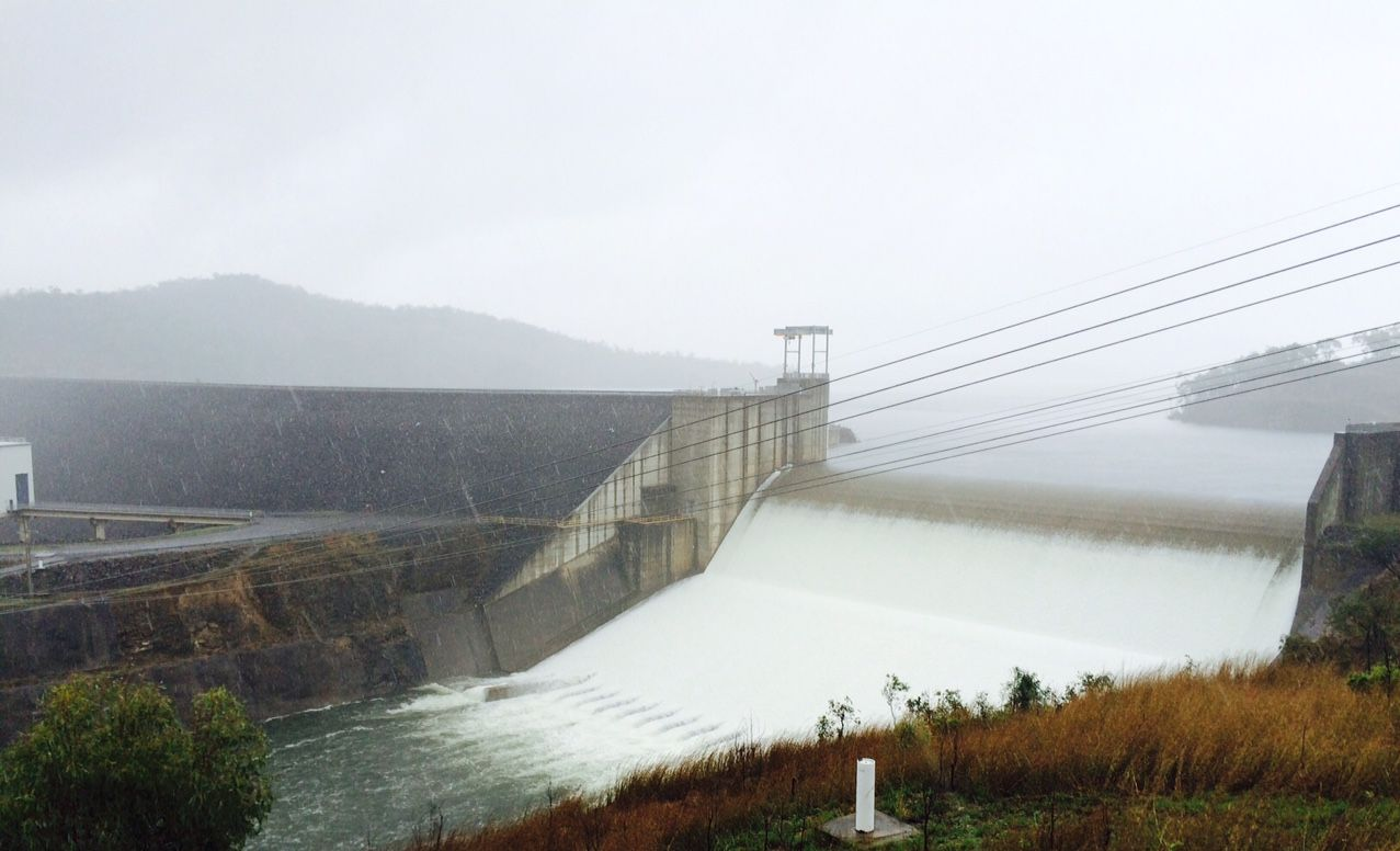 Awoonga Dam has spilled over.