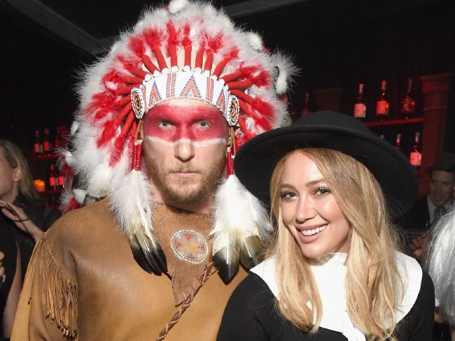 Hilary Duff and then-boyfriend Jason Walsh upset people with their Halloween costume last year. Picture: Michael Kovac/Getty Images for Casamigos Tequila
