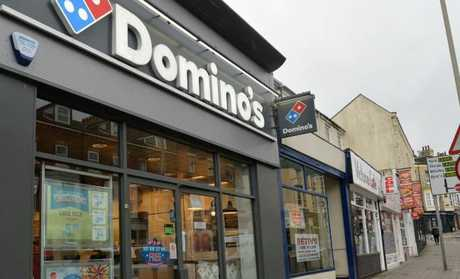 Domino's Pizza takeaway in Scarborough, where Daniella Hirst and Craig Smith had sex. Picture: Anna Gowthorpe/PA Wire