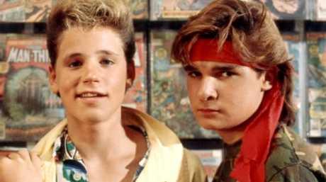 Corey Haim (left) and Corey Feldman in the 1987 film 'The Lost Boys'