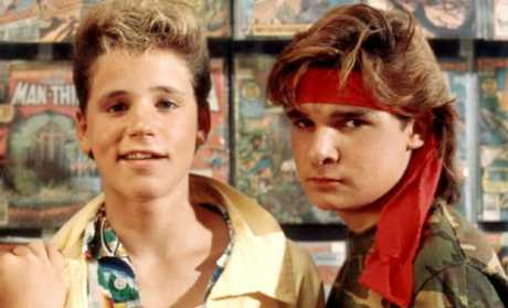 Corey Haim (left) and Corey Feldman in the 1987 film 'The Lost Boys'