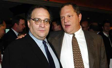 Brothers Bob (left) and Harvey Weinstein. Picture: Supplied