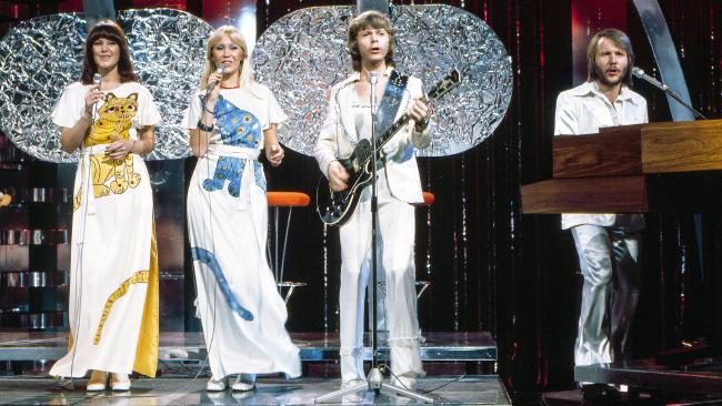 ABBA pictured in Australia in 1976. From Abba: The Official Photo Book, published by Hardie Grant Books. Picture: Polar Music International.