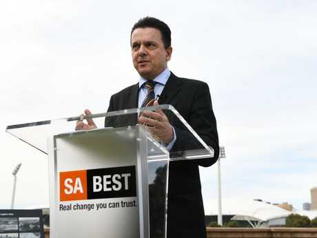 Nick Xenophon helped initiate the Pokie Leaks campaign. Picture: Tricia Watkinson