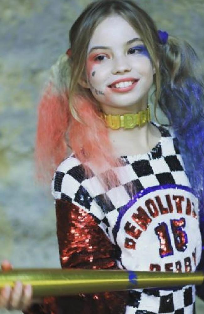 Dressed as Harley Quinn. Instagram: ekaterina_perova_official
