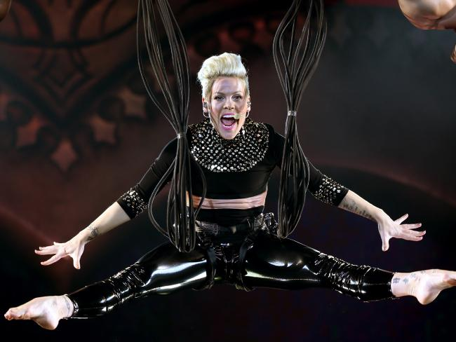 The acrobatic singer is soaring at the box office for her 2018 tour. Picture: Toby Zerna