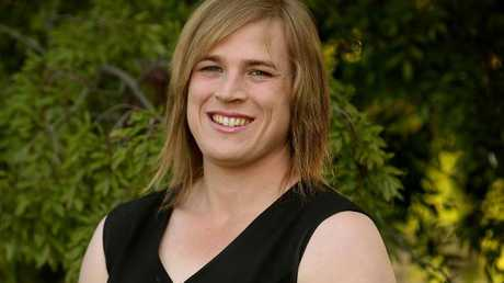 Hannah Mouncey will continue to play for Ainslie footy club, part of AFL Canberra. Picture: Kym Smith