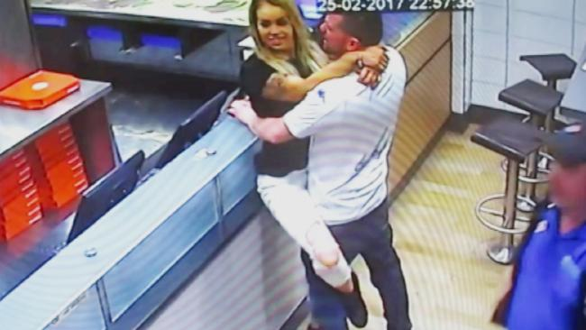 Daniella Hirst and Craig Smith were caught having sex on CCTV at a Domino's Pizza in Scarborough, UK.