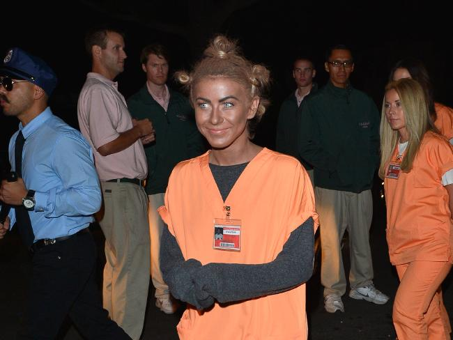 Actress Julianne Hough caused offence when she attended a Halloween party in blackface. Picture: AKM-GSI/Splash News Splash News and Pictures
