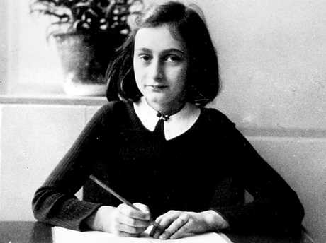 Anne Frank was killed in the Holocaust during World War II. Picture: Supplied