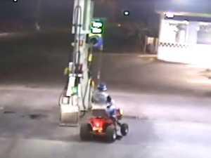 Drunk man drives lawnmower to petrol station