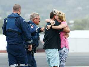 Trawler survivor's dramatic reunion with wife