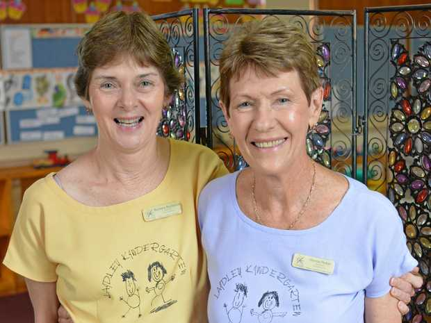 BITTERSWEET GOODBYE: After working at Laidley C&K Kindy for 33 years, Norma Parker will retire at the end of term along with director, Barbara Buchanan who has taught there for 24 years.