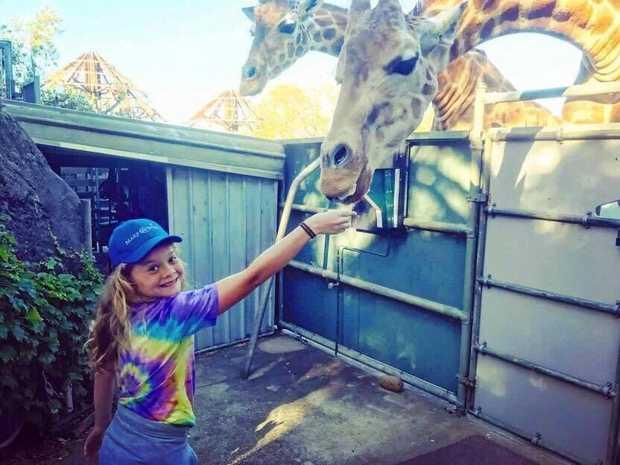 LOVING LIFE: Katelyn at Taroonga Zoo.